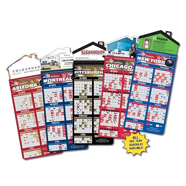 Magna-Card House Shape Magnet - Hockey Schedules (3.5x9)