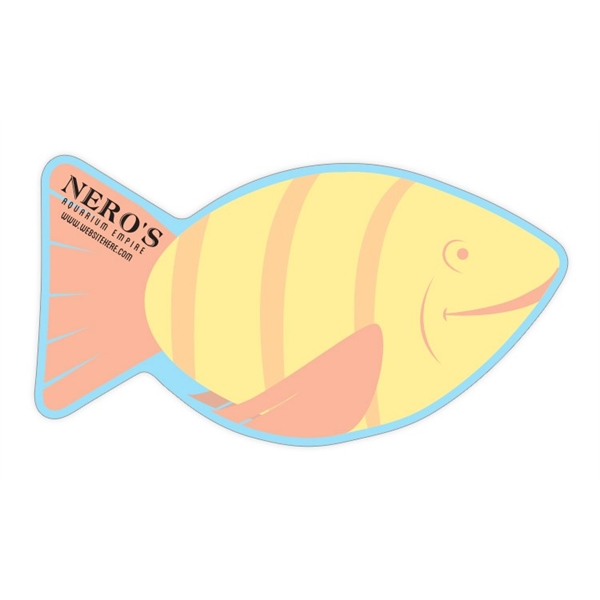 Mini Memo Board Shape - 8.5x4.625 Laminated - FISH - 14 pt.