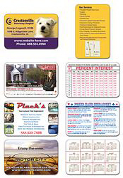 Extra-Thick Laminated Plastic Wallet Card - 3.5x2.25 - 24 pt