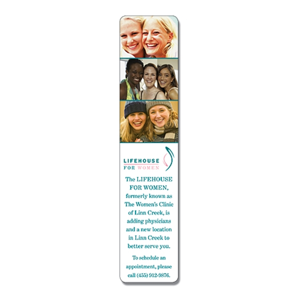 UV-Coated (1S) Plastic Bookmark - 1.75x8 - 10 pt.