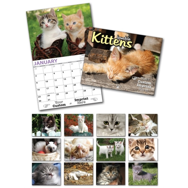 13 Month Custom Appointment Wall Calendar - KITTENS