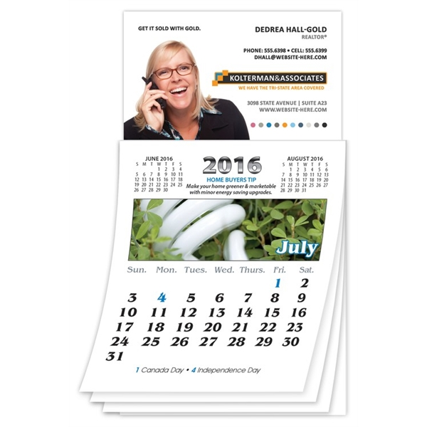 Magna-Cal Business Card Magnet R.E. Calendar - July 2014