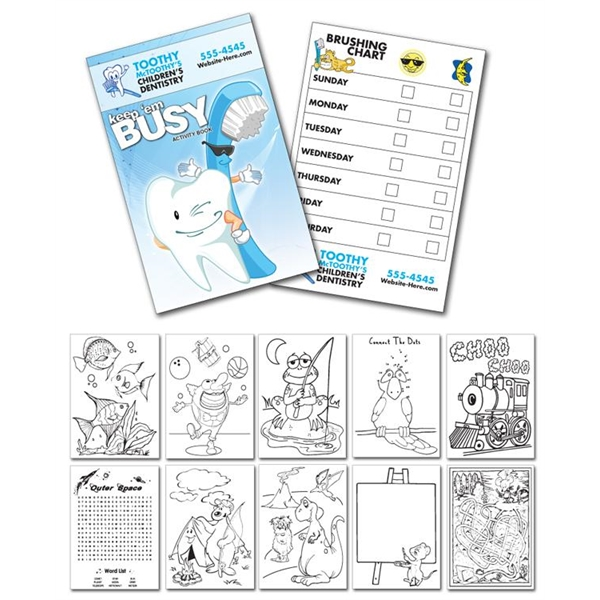 Activity Coloring Book - 5.5x8.5 - (12-Page Dentist)