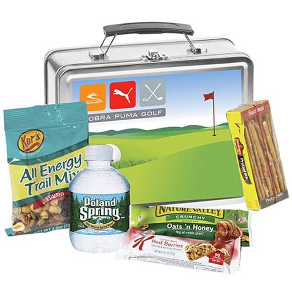 Metal Lunch Box w/ Snack Mix