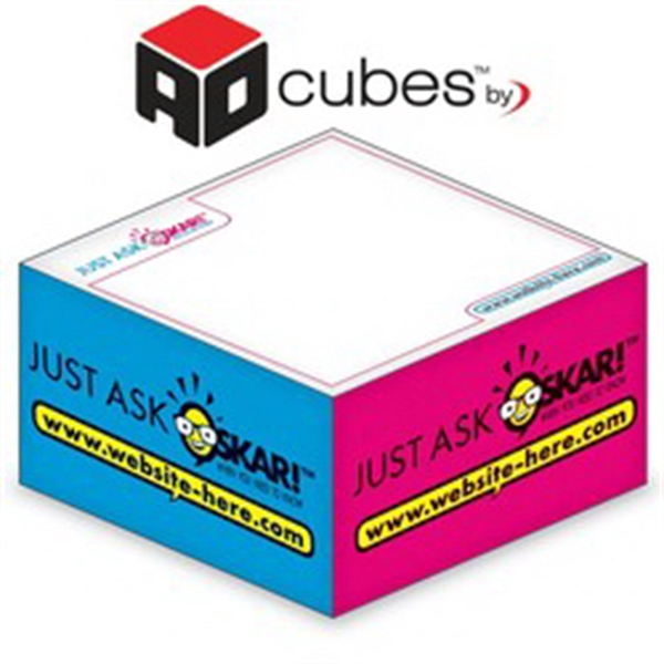 Ad Cubes (TM) - Memo Notes - 3.375x3.375x1.6875-4 Colors