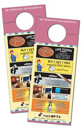 Plastic Door Hanger - 3.5x8.5 Extra-Thick Laminated with Sli