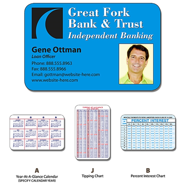 Financial Services Laminated Wallet Card - 3.5x2.25 (2-Sided