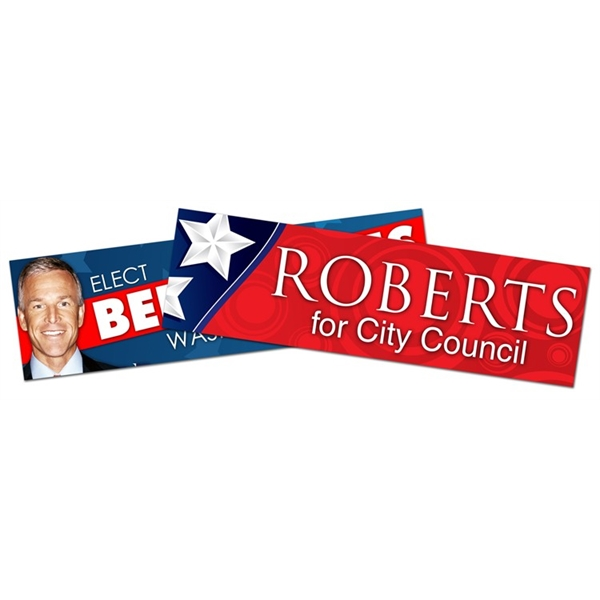 Political Campaign Bumper Sticker / Decal - UV-Coated Vinyl