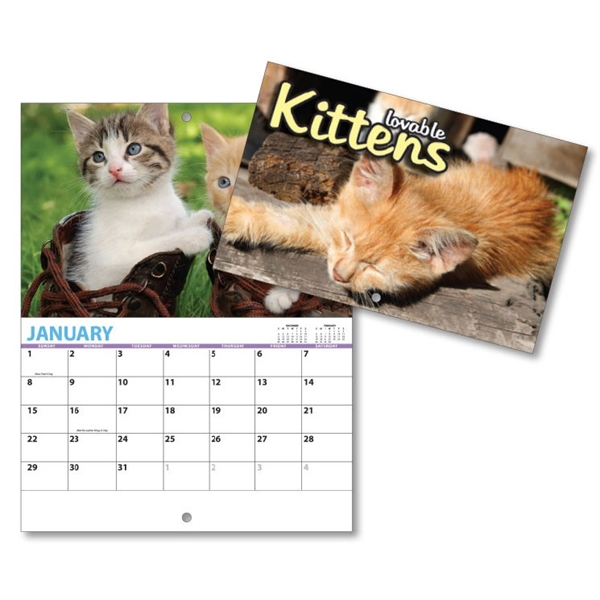 13 Month Mini Custom Photo Appointment Wall Calendar - KITTE