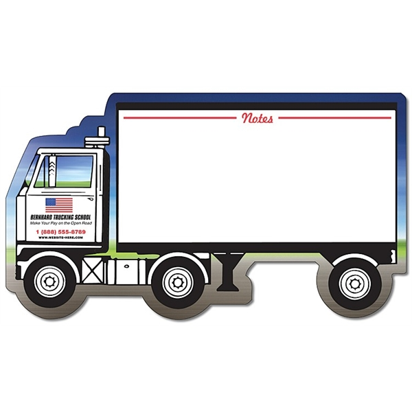 Mini Memo Board Shape - 8.375x4.75 Laminated - SEMI-TRUCK /