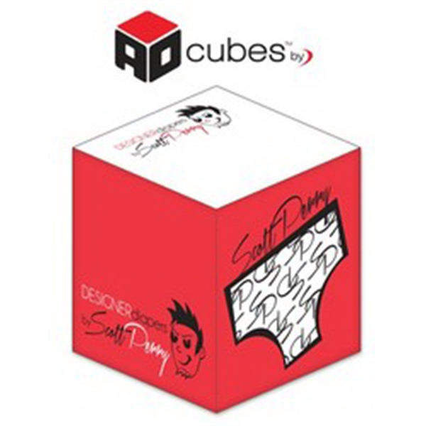Ad Cubes (TM) - Memo Notes - 2.75x2.75x2.75-2 Colors, 2 Side
