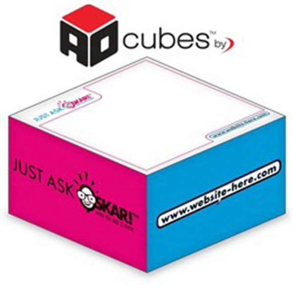 Ad Cubes (TM) - Memo Notes - 3.875x3.875x1.9375-3 Colors