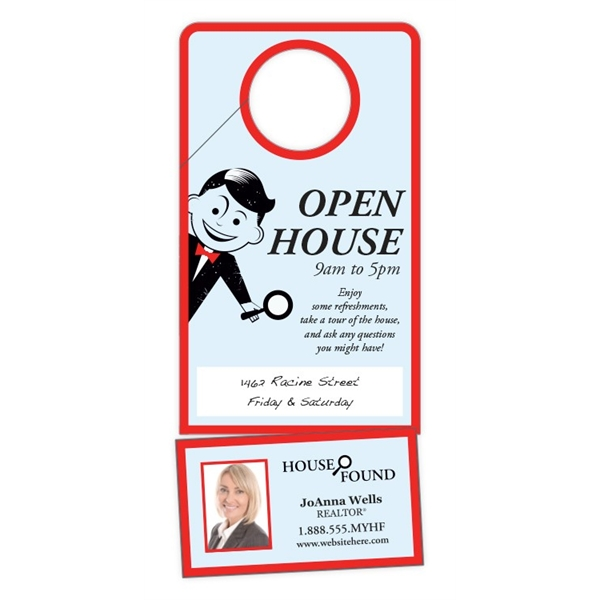 Door hanger uv coated 1s with slit and for 10000 door hangers