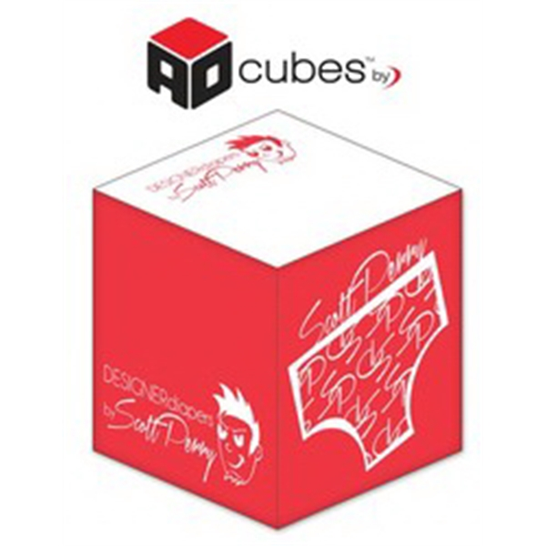 Ad Cubes (TM) - Memo Notes - 2.75x2.75x2.75-1 Color, 2 Side