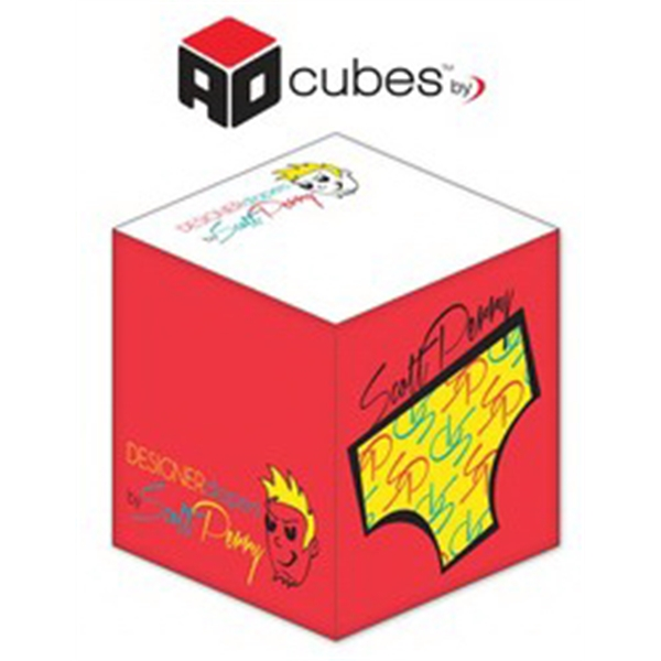 Ad Cubes (TM) - Memo Notes - 2.75x2.75x2.75-4 Colors, 2 Side