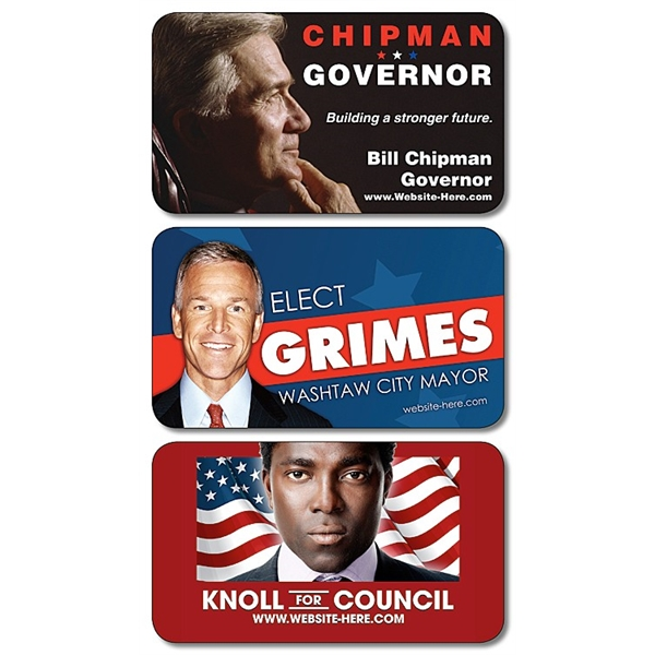 Political Business Card Magnet - 3.5x2 (Round Corners) - 20