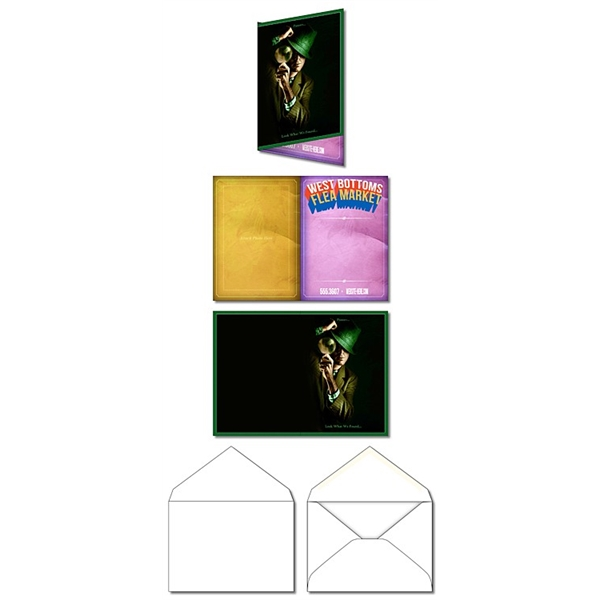 Greeting Card - 3.5x5 Folded with Envelopes - UV-Coated (1S)