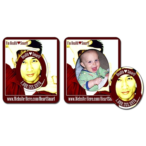 Picture Frame Magnet (3x3.5) - Oval Punch (1.8125x2.25) - 20