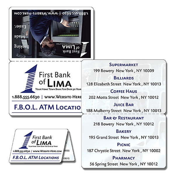 Financial Service Laminated Wallet Card - 3.5x4.5 Double-Fol