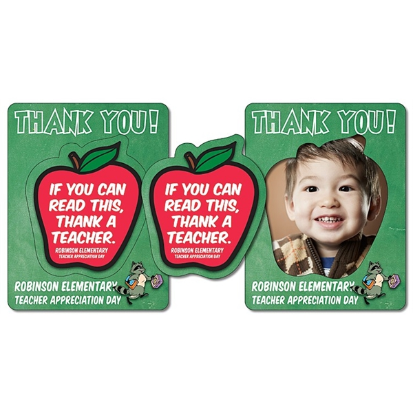 School Picture Frame Magnet (3.5x4.5) - Apple Punch (2.75x3.