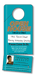 Plastic Door Hanger - 3.5x8 Extra-Thick Laminated with Slit