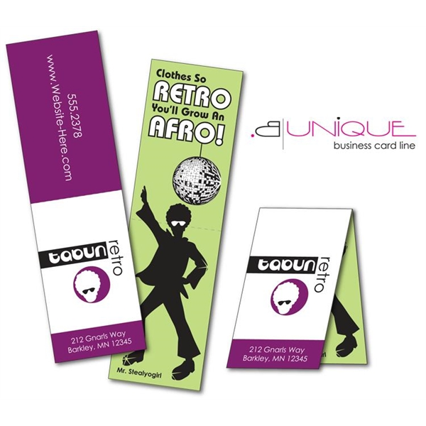 Extra-Thick UV-Coated (1S) Folded Paper Business Card (3.5x2