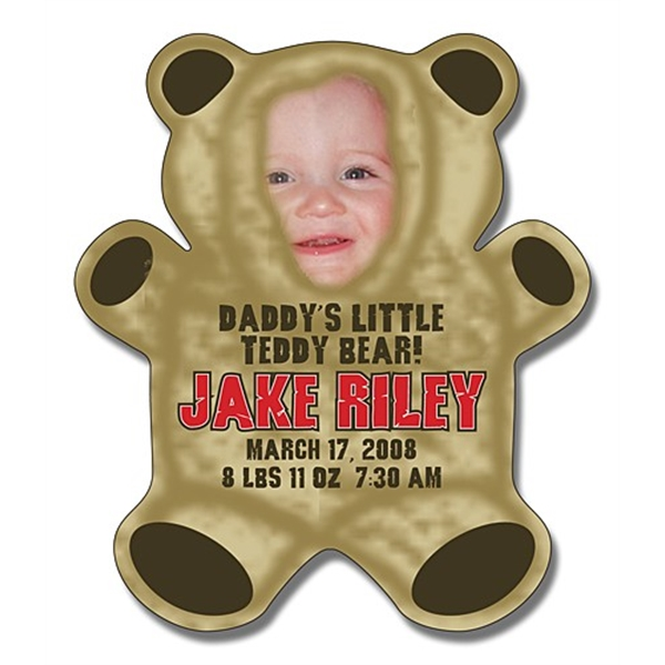 Announcement Magnet - Teddy Bear Shape (4x4.625) - Outdoor S