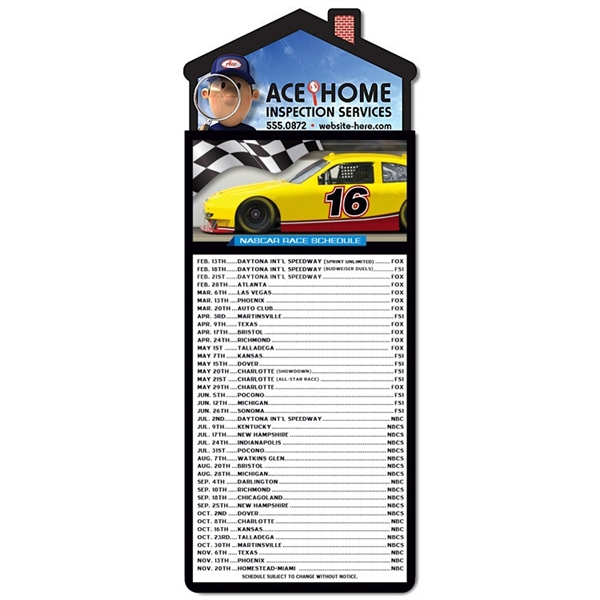 Magna-Card House Shape Magnet - NASCAR Racing Schedule (3.5x