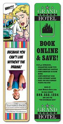 Plastic Bookmark - 1.75x8 Extra-Thick Laminated w/Page Holde