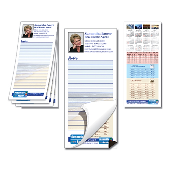 Scratch Pad / Notepad with Magnetic Backer - Custom 25-Sheet