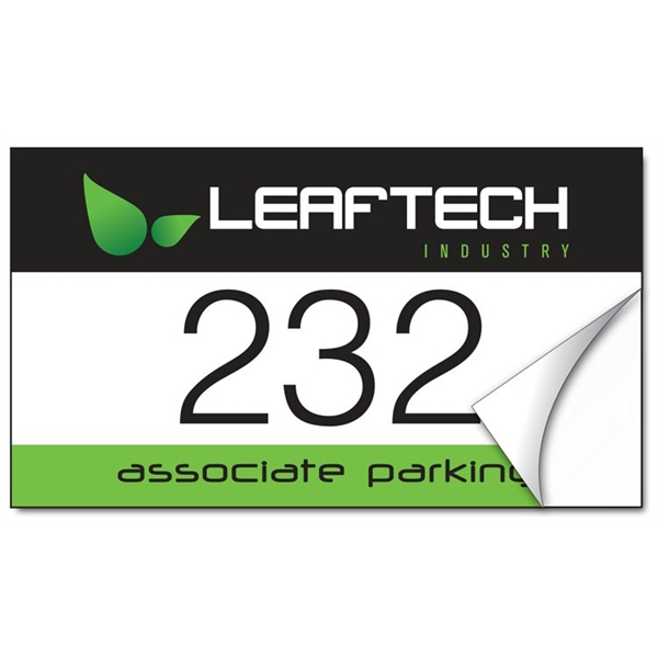 White Vinyl Parking Permit Sticker / Decal - UV-Coated Vinyl