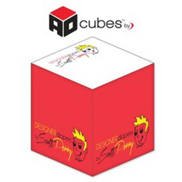 Ad Cubes (TM) - Memo Notes - 2.75x2.75x2.75-3 Colors, 1 Side