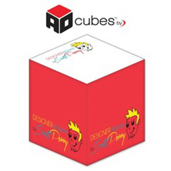 Ad Cubes (TM) - Memo Notes - 2.75x2.75x2.75-4 Colors, 1 Side