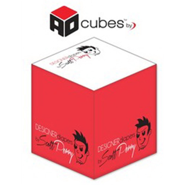 Ad Cubes (TM) - Memo Notes - 2.75x2.75x2.75-2 Colors, 1 Side
