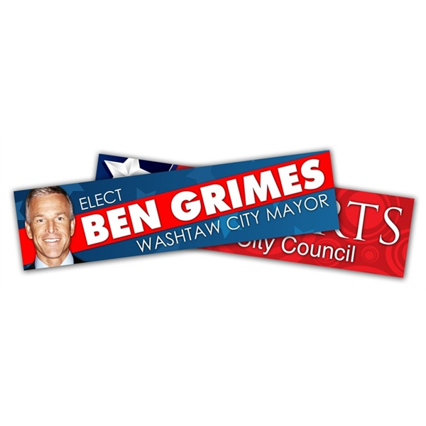Political Campaign Bumper Sticker - UV-Coated Vinyl (10.5x2.