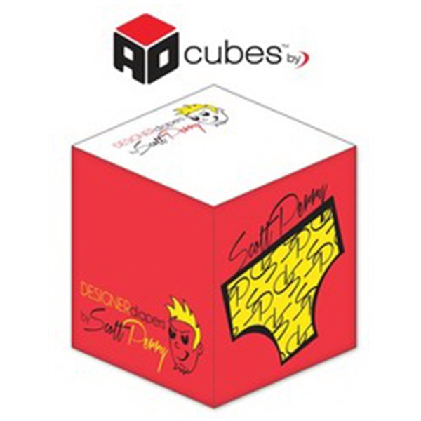 Ad Cubes (TM) - Memo Notes - 2.75x2.75x2.75-3 Colors, 2 Side