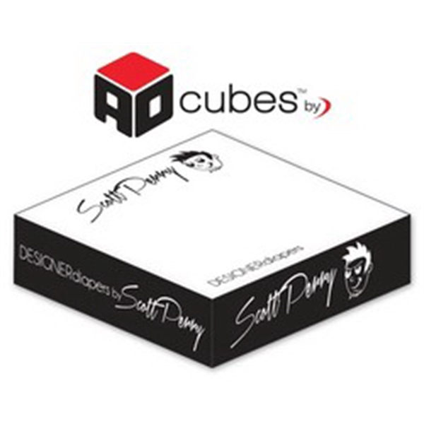 Ad Cubes (TM) - Memo Notes - 3.875x3.875x0.96875-1 Colors