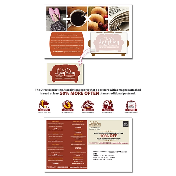 Delivery Magna-Peel Postcard (8.5x5.25) with Business Card M