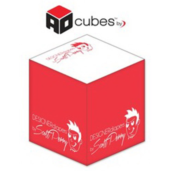 Ad Cubes (TM) - Memo Notes - 3.375x3.375x3.375-1 Color