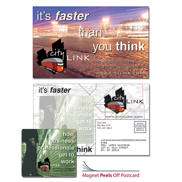 Magna-Peel Postcard (8.5x5.25) - Laminated with 3.5x4 Magnet