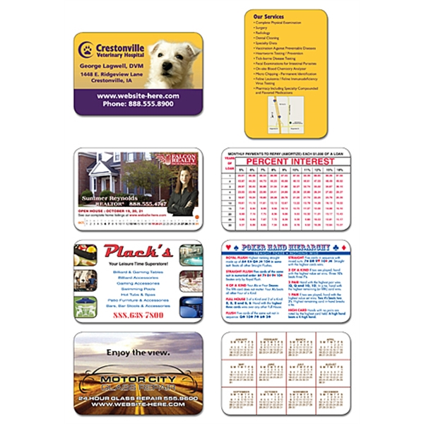 UV-Coated (1S) Plastic Wallet Card - 3.5x2.25 (2-Sided) - 10