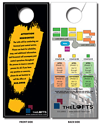 Plastic Door Hanger - 4x10 Extra-Thick Laminated with Slit -