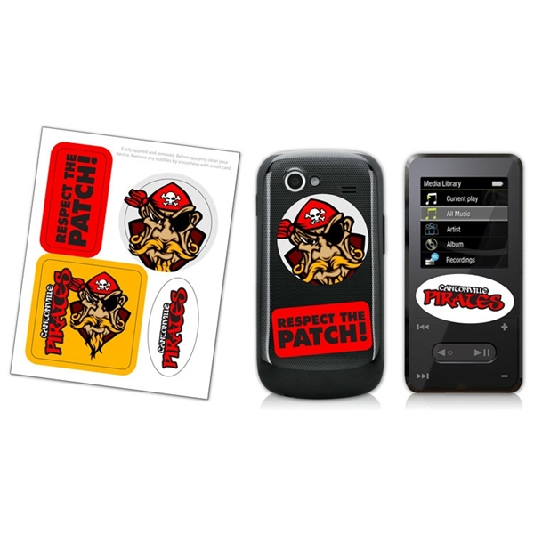Cell Phone & MP3 Multiple Skin Stickers - UV-Coated Vinyl (4