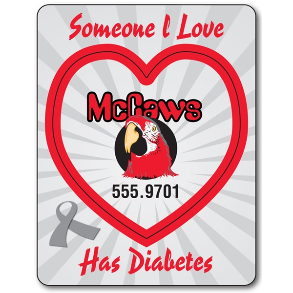 Awareness Magnet - Picture Frame Heart Punch (3.5x4.5) - 25