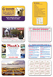 Extra-Thick UV-Coated (1S) Plastic Wallet Card - 3.5x2.25 (2