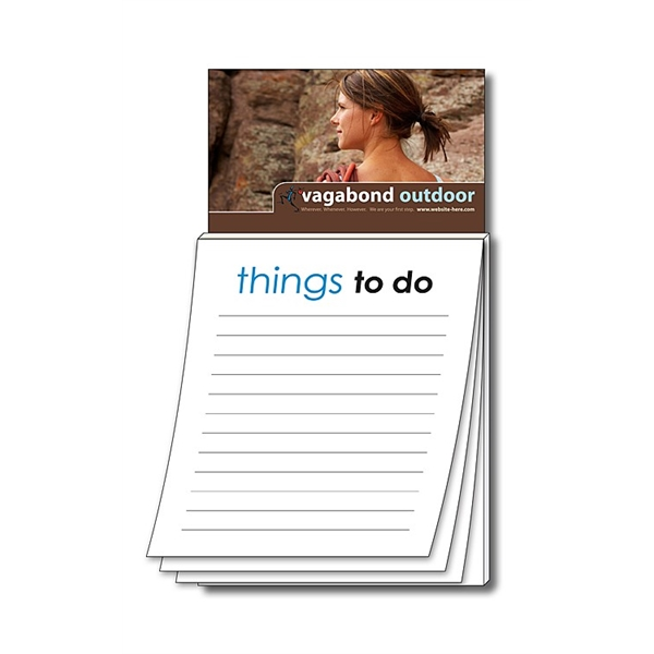 Magna-Pad Business Card Magnet - Stock Things To Do (50 Shee
