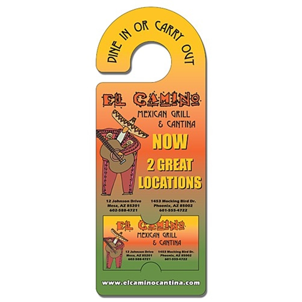 Door Hanger - 4x10.5 Extra-Thick Laminated with Rounded Hand