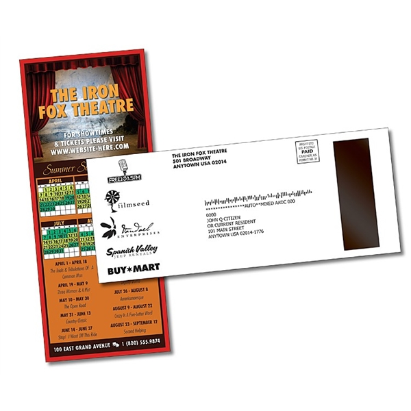 UV-Coated (1S) Card/Postcard with Magnet Strip - 3.5x8.5 - 1