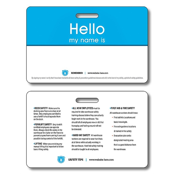 Plastic UV-Coated (1S) I.D./Wallet Card with Punch - 2.125x3