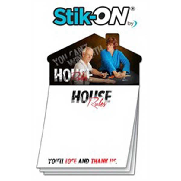 Custom Magna-Note - 3.5x3.5 25-Sheet Stik-ON(R) with House M